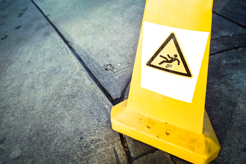 Image of slippery floor caution sign